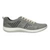 Skórzane buty sportowe z perforacją bata, szary, 846-2634 - 15