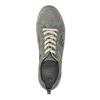 Skórzane buty sportowe z perforacją bata, szary, 846-2634 - 19