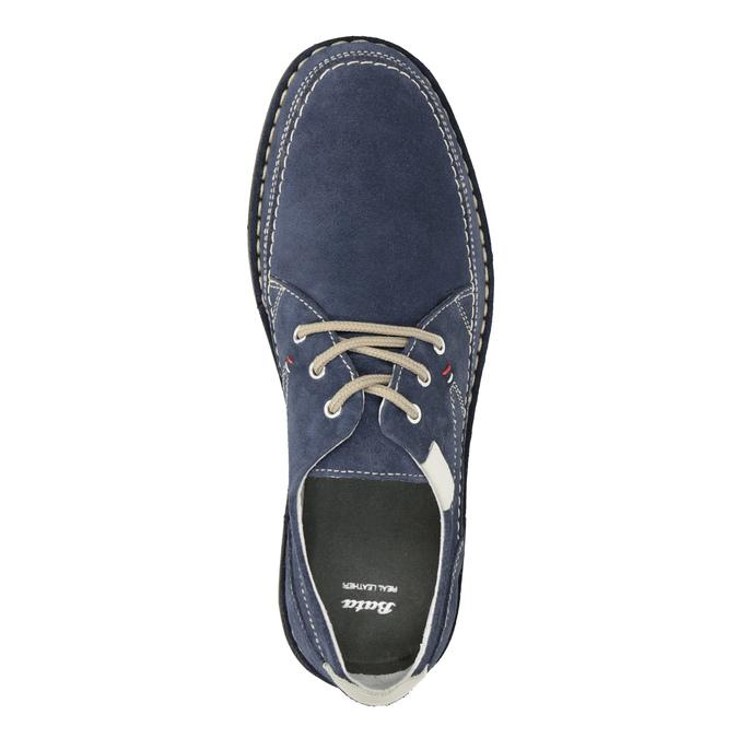 Nieformalne zamszowe półbuty bata, niebieski, 853-9612 - 15