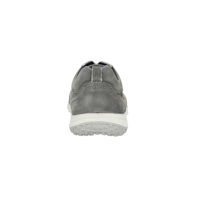 Skórzane buty sportowe z perforacją bata, szary, 846-2634 - 17