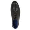 Skórzane buty za kostkę znieformalną podeszwą bata, czarny, 826-4818 - 19