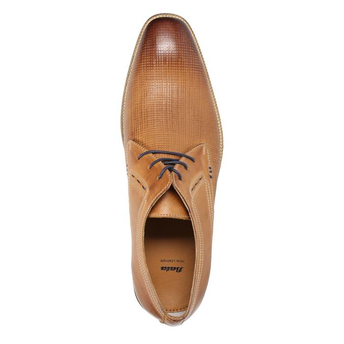 Skórzane półbuty typu angielki bata, brązowy, 826-3802 - 19