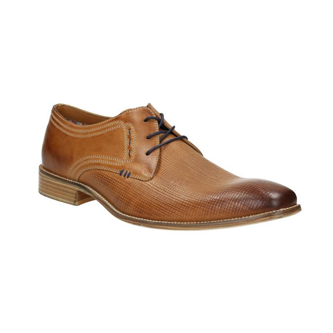 Skórzane półbuty typu angielki bata, brązowy, 826-3802 - 13