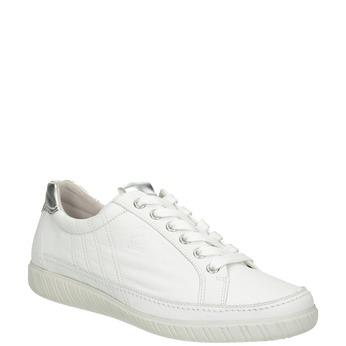 Białe trampki ze skóry gabor, biały, 626-1204 - 13