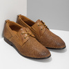 Nieformalne skórzane półbuty zperforacją bata, brązowy, 856-3601 - 26