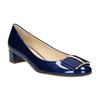 Skórzane czółenka zkokardą hogl, niebieski, 628-9400 - 13
