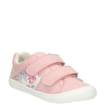 Trampki dziecięce zdeseniem wkwiaty mini-b, różowy, 221-5605 - 13