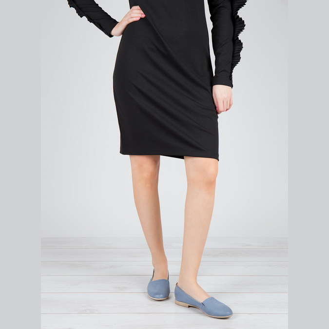 Damskie buty wstylu Slip-on bata, niebieski, 516-9602 - 18