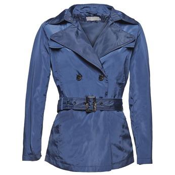 Granatowy trencz damski bata, niebieski, 979-9205 - 13