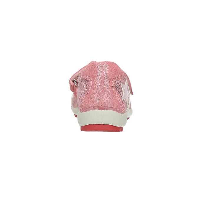 Baleriny na kontrastowej podeszwie mini-b, różowy, 321-5605 - 17
