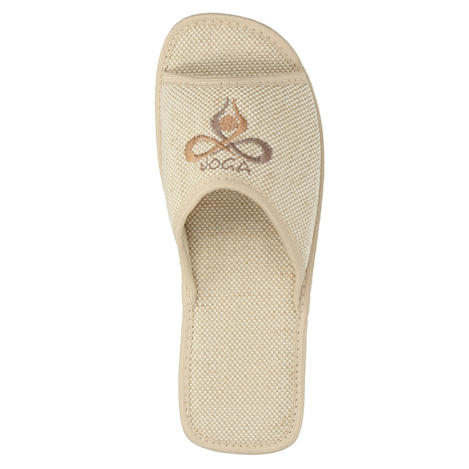 Kapcie damskie bata, beżowy, 579-8619 - 19