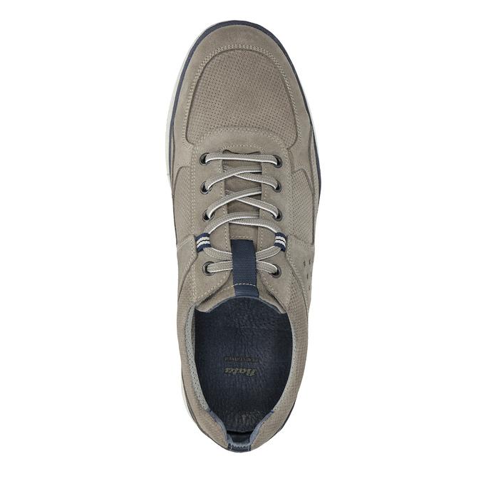 Nieformalne trampki ze skóry bata, szary, 843-2627 - 19