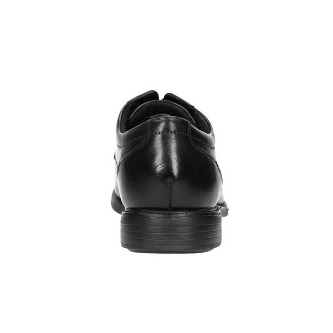 Czarne skórzane półbuty rockport, czarny, 824-6127 - 17
