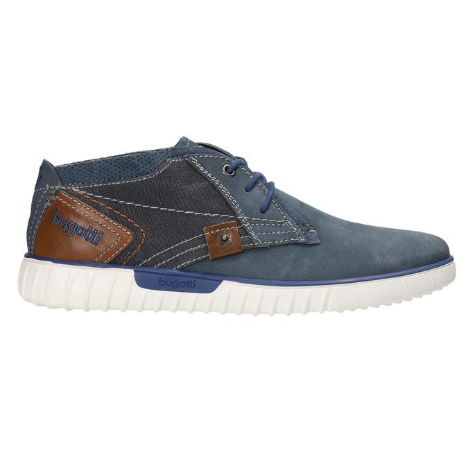 Skórzane buty za kostkę bugatti, niebieski, 846-9635 - 15