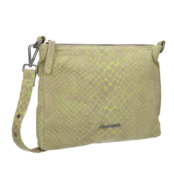 Skórzana torba damska typu crossbody fredsbruder, zielony, 963-7031 - 13
