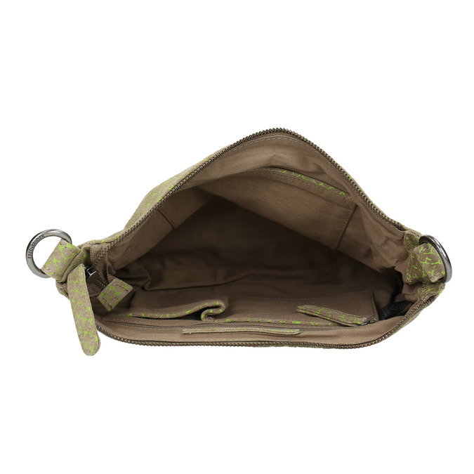 Skórzana torba damska typu crossbody fredsbruder, zielony, 963-7031 - 15