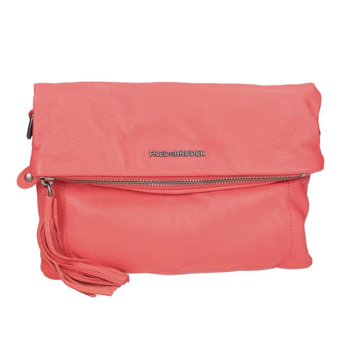Skórzana torba damska typu crossbody fredsbruder, czerwony, 964-5037 - 19