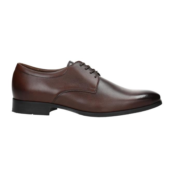 Skórzane męskie półbuty typu Derby bata, brązowy, 824-4752 - 15
