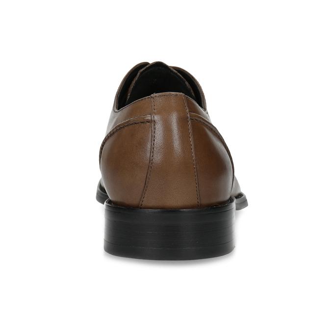 Brązowe skórzane półbuty męskie typu angielki bata, brązowy, 826-3646 - 15