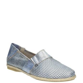 Buty damskie typu slip-on bata, niebieski, 516-9604 - 13