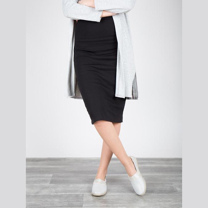 Skórzane slip-on damskie bata, biały, 516-1604 - 18
