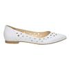 Białe skórzane baleriny bata, biały, 524-1604 - 15