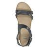 Skórzane sandały na kontrastowej podeszwie bata, niebieski, 566-9606 - 19