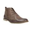 Skórzane buty za kostkę bata, brązowy, 826-4600 - 13