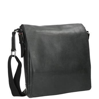 Skórzana torba unisex typu crossbody bata, czarny, 964-6222 - 13