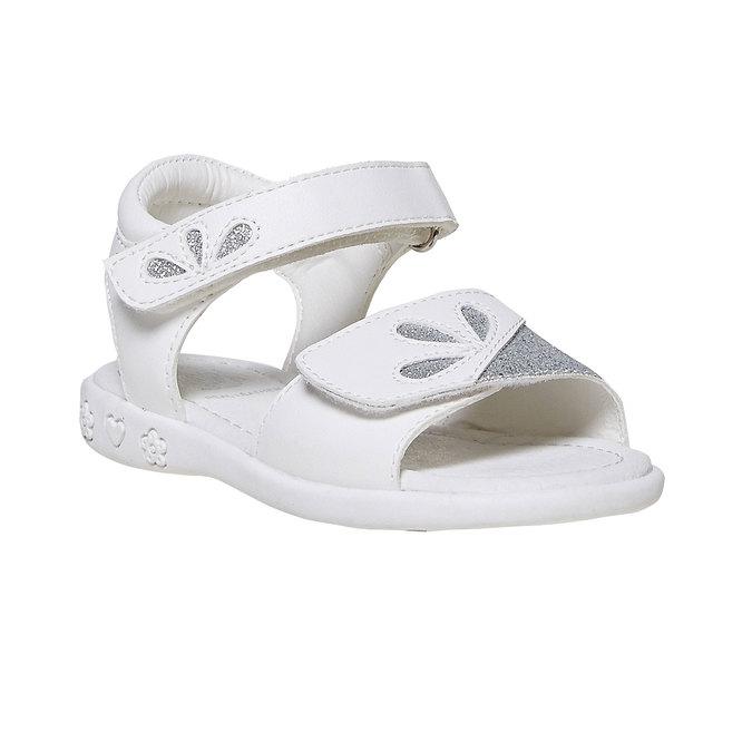 Białe sandały dziecięce zbrokatem mini-b, biały, 261-1188 - 13