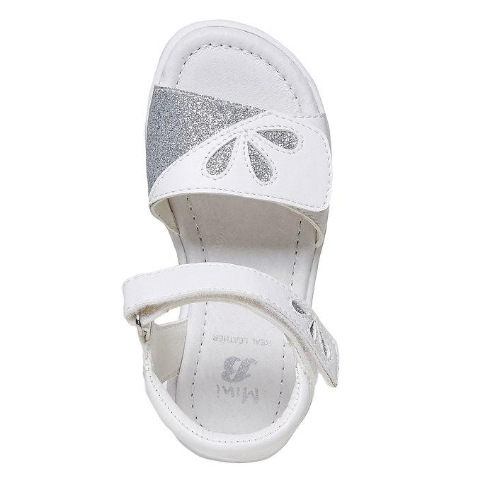 Białe sandały dziecięce zbrokatem mini-b, biały, 261-1188 - 19