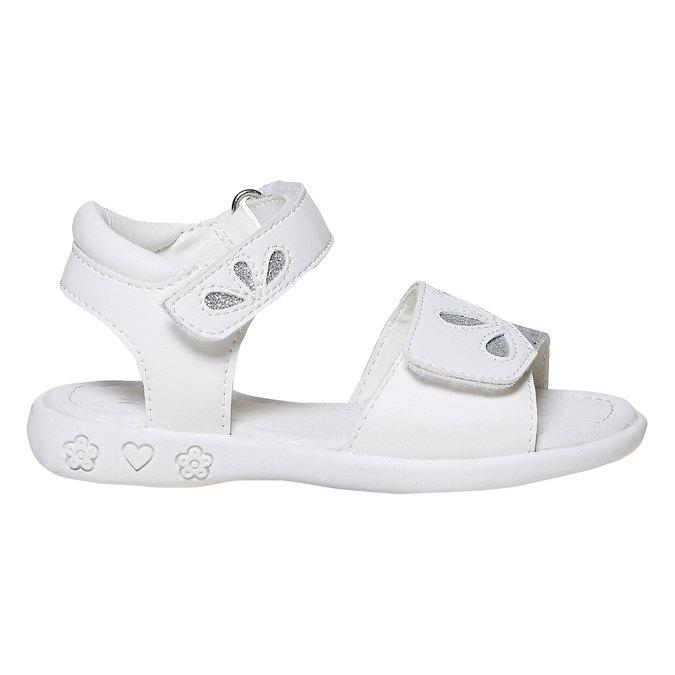 Białe sandały dziecięce zbrokatem mini-b, biały, 261-1188 - 15