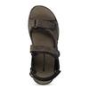 Brązowe skórzane sandały męskie na rzepy weinbrenner, 866-4631 - 17