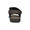 Brązowe skórzane sandały męskie na rzepy weinbrenner, 866-4631 - 15