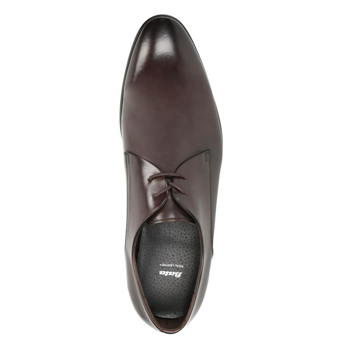Skórzane półbuty męskie bata, brązowy, 826-4648 - 15