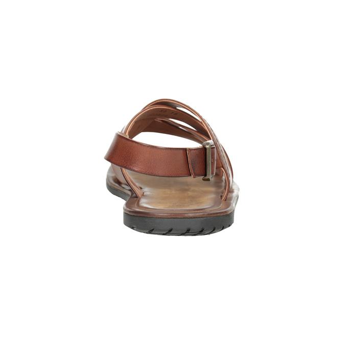 Brązowe skórzane sandały męskie bata, brązowy, 866-3602 - 15