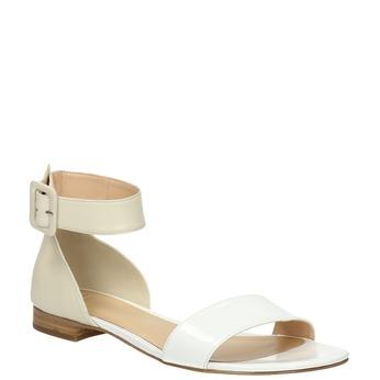 Skórzane sandały damskie bata, biały, 568-1606 - 13