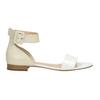 Skórzane sandały damskie bata, biały, 568-1606 - 15
