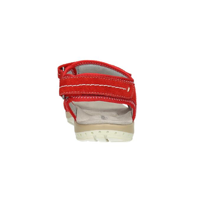 Czerwone sandały damskie ze skóry weinbrenner, czerwony, 566-5608 - 17