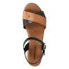 Sandały damskie na grubej podeszwie weinbrenner, czarny, 566-6626 - 19