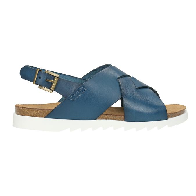 Skórzane sandały damskie weinbrenner, niebieski, 566-9628 - 15