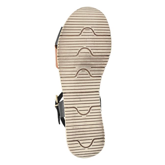 Sandały damskie na grubej podeszwie weinbrenner, czarny, 566-6626 - 26