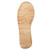 Skórzane sandały na kontrastowej podeszwie weinbrenner, brązowy, 566-4627 - 26