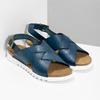 Skórzane sandały damskie weinbrenner, niebieski, 566-9628 - 26