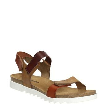 Skórzane sandały damskie weinbrenner, brązowy, 566-4630 - 13