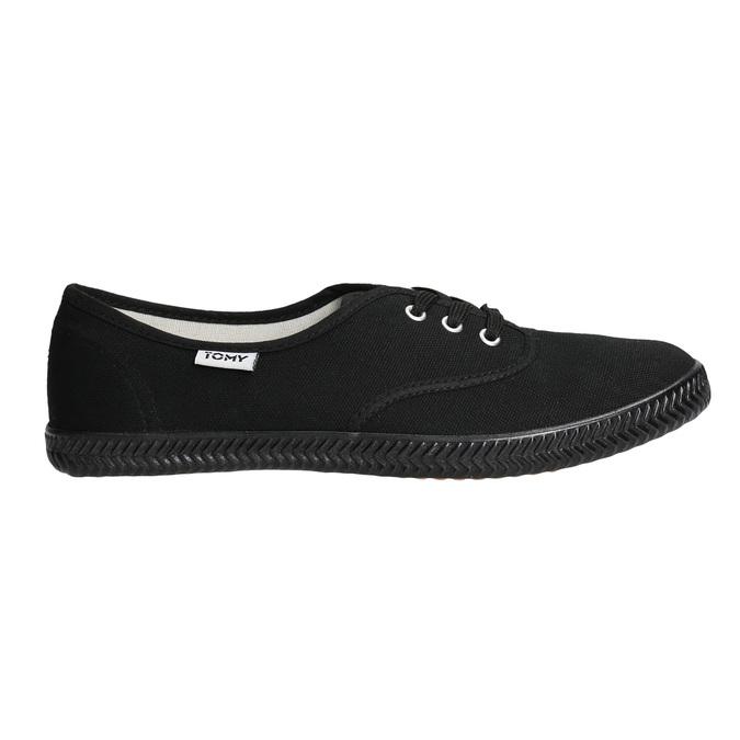 Czarne trampki damskie tomy-takkies, czarny, 589-6180 - 15