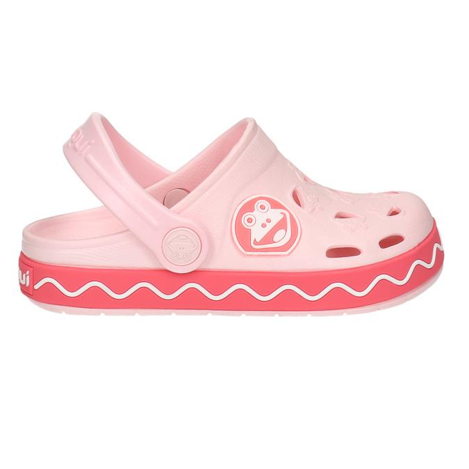 Różowe sandały zżabką coqui, różowy, 272-5603 - 15