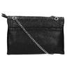 Mała czarna torebka zklapą bata, czarny, 961-6731 - 19