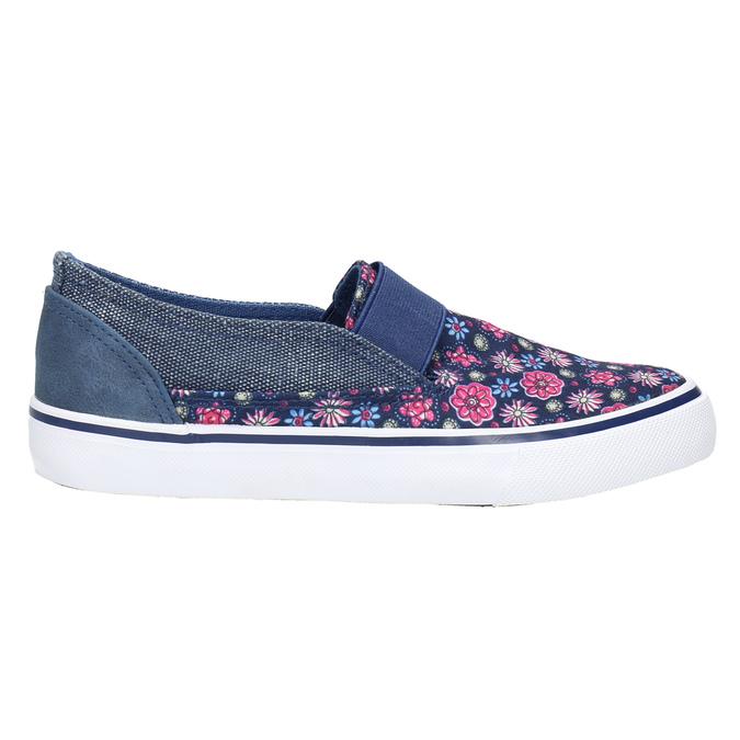Obuwie dziewczęce typu slip-on mini-b, niebieski, 329-9611 - 15