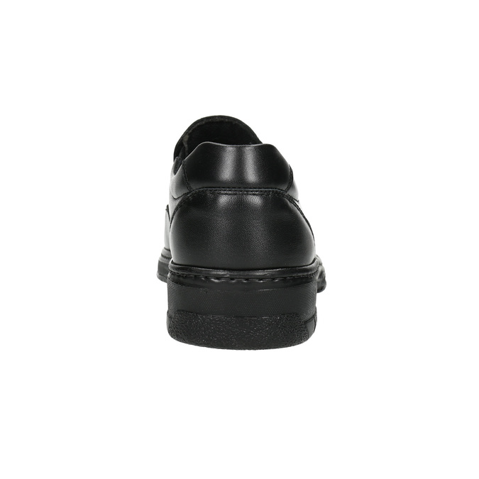 Skórzane mokasyny męskie pinosos, czarny, 814-6622 - 17